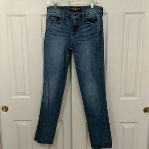 Lucky Brand straight leg blue jeans size 10R